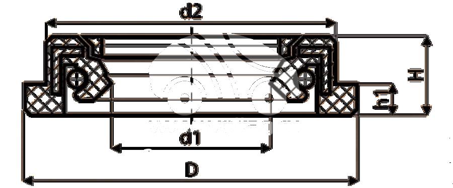Сальник рулевой рейки HAZ1654