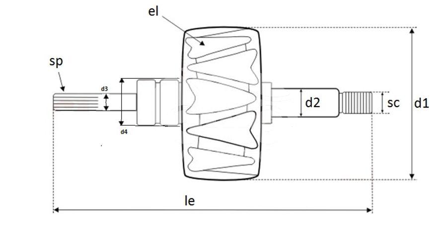 Ротор генератора AVV1118