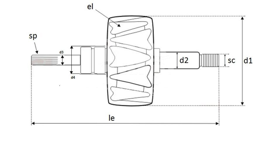 Ротор генератора AVB2350