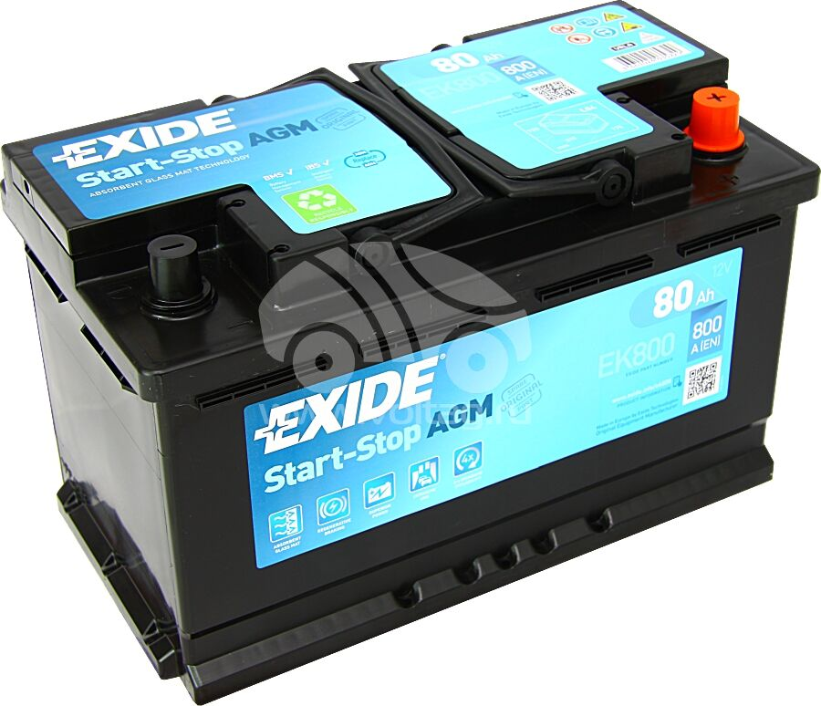 АккумуляторExide EK800 (315x175x190)