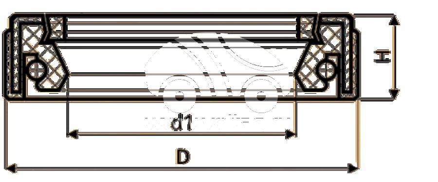 Сальник рулевой рейки HAZ1661