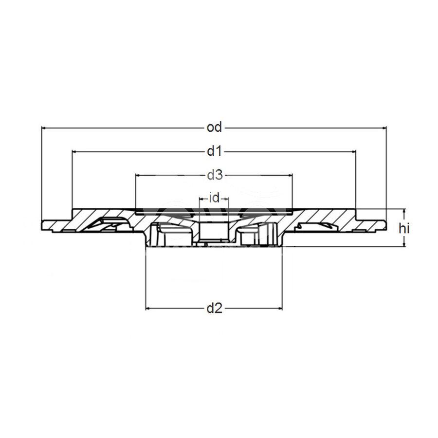 Задняя пластина MVT0016