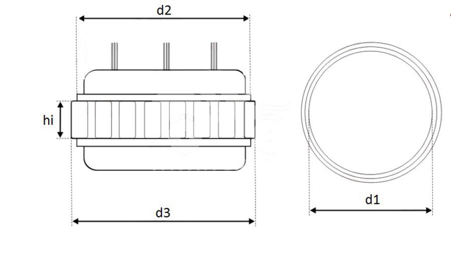 Статор генератора AFV0001
