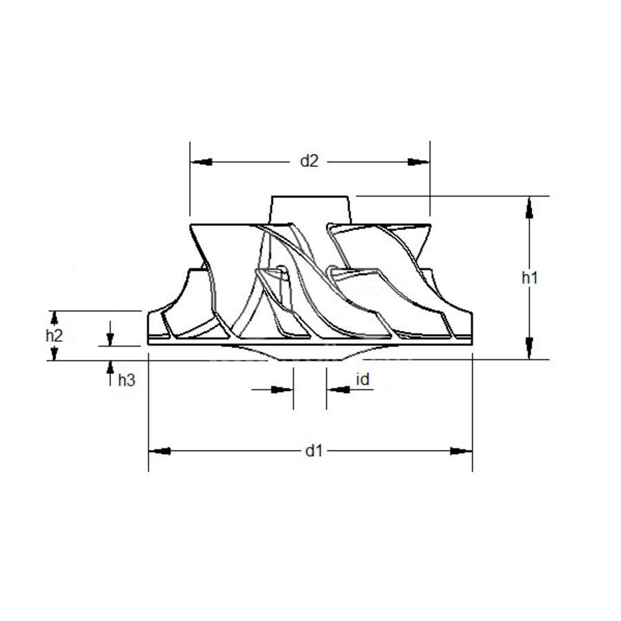 Крыльчатка турбокомпрессора MIT0006