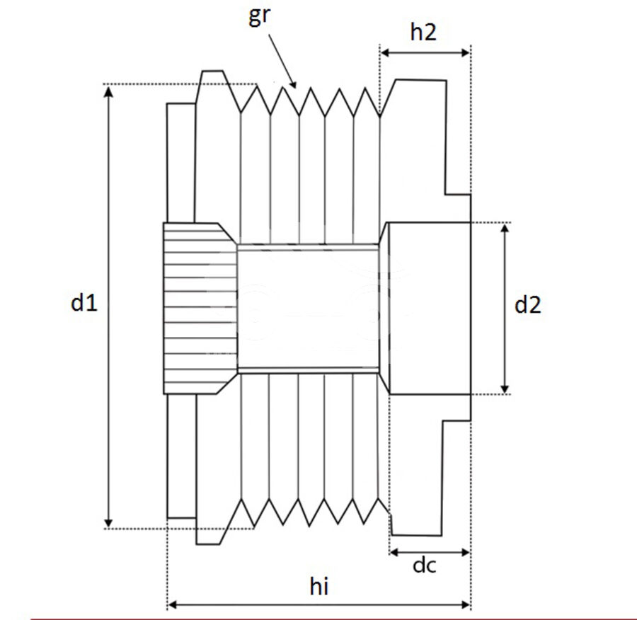 Шкив генератора металлическийKRAUF APV1584PN (APV1584PN)