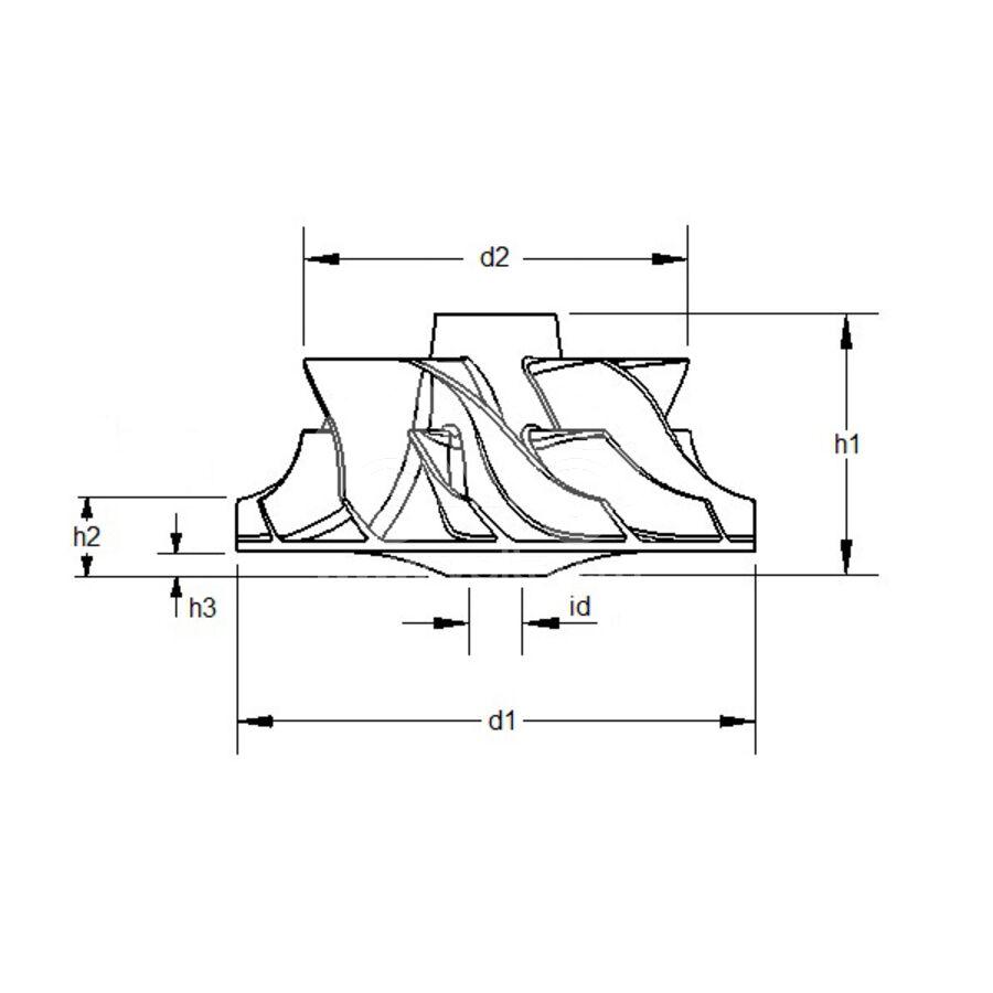 Крыльчатка турбокомпрессора MIT0012