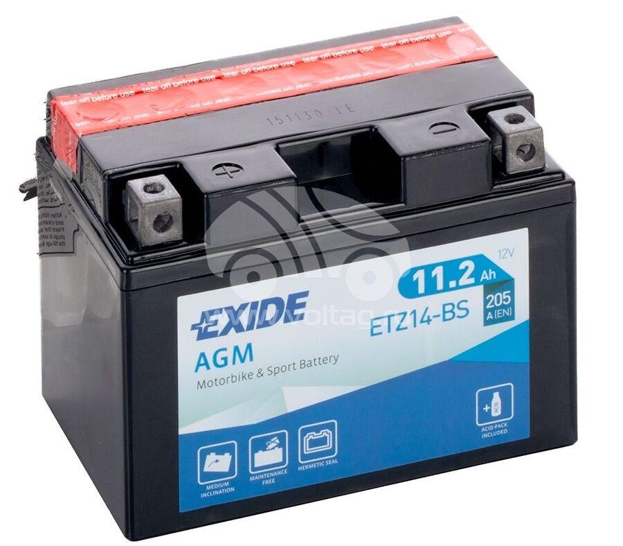 АккумуляторExide ETZ14BS (150x87x110)