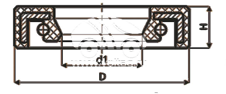 Сальник рулевой рейки HAZ0006