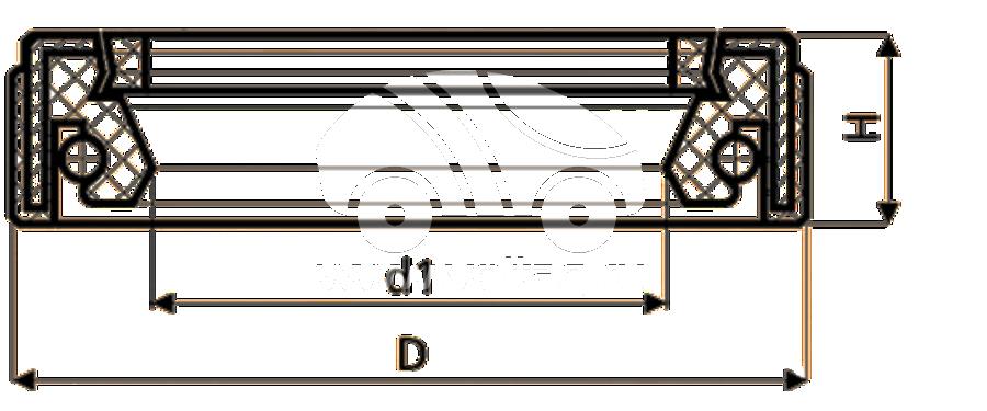 Сальник рулевой рейки HAZ1619