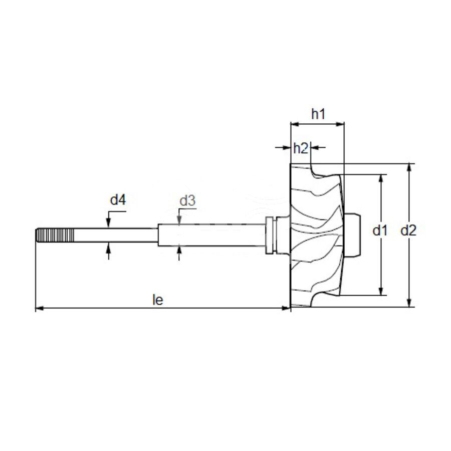 Вал турбокомпрессора MST0014