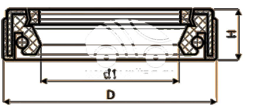 Сальник рулевой рейки HAZ1684