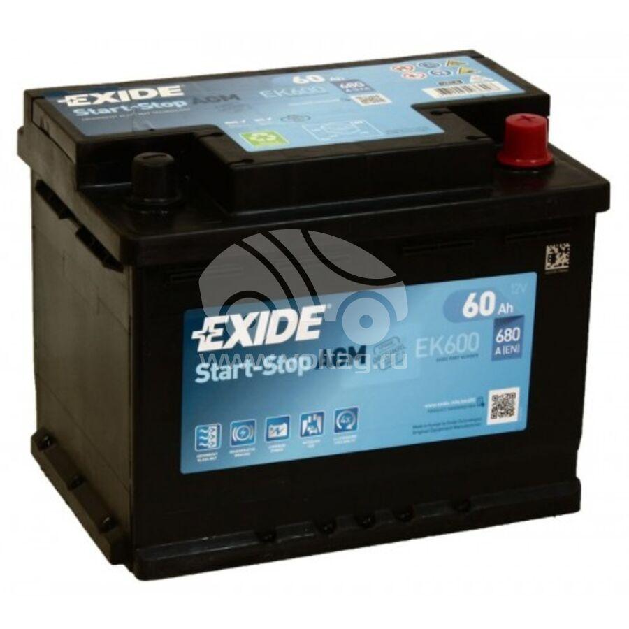 АккумуляторExide EK600 (ATE6000XE)