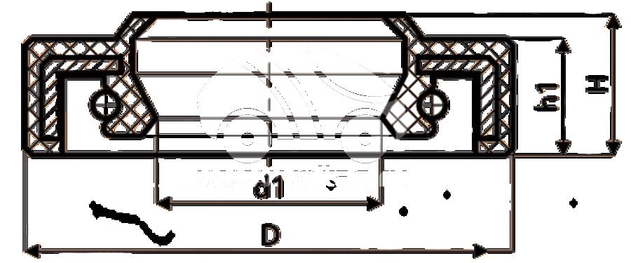 Сальник рулевой рейки HAZ1706