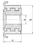 Коллектор моторчика печки KSS0012
